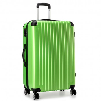 """L1601L DGN  - Miss Lulu Large Suitcase Luggage Green 28"""""""