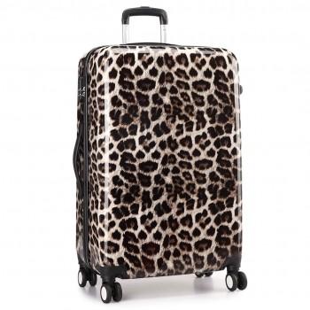 "L1212L 24- Miss Lulu Large Suitcase Luggage Leopard Print 24"""