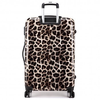 L1212L 28 - Miss Lulu Large Suitcase Luggage Leopard Print 28""