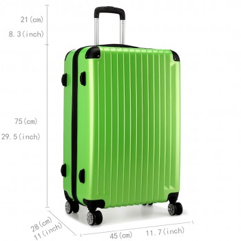 L1601L DGN  - Miss Lulu Large Suitcase Luggage Green 28""