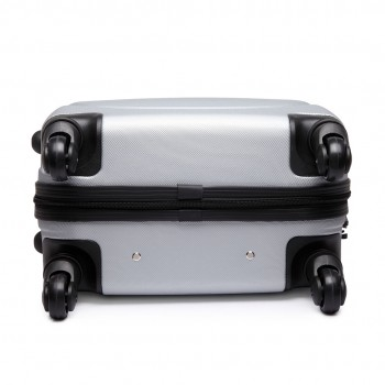 "L1602L -  20"" Hard Shell 4 Wheel Spinner Suitcase ABS Cabin Luggage Grey"