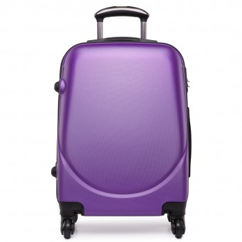 "L1602L -  20"" Hard Shell 4 Wheel Spinner Suitcase ABS Cabin Luggage Purple"