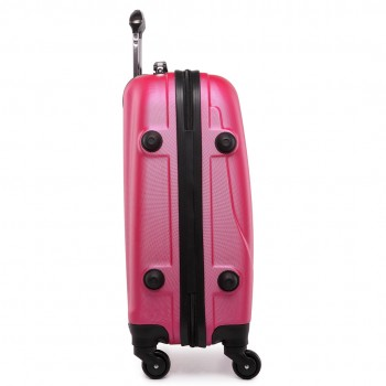 "L1602L -  20"" Hard Shell 4 Wheel Spinner Suitcase ABS Cabin Luggage Plum"
