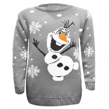 Mens Christmas Xmas Olaf Frozen Jumper C3001 Grey