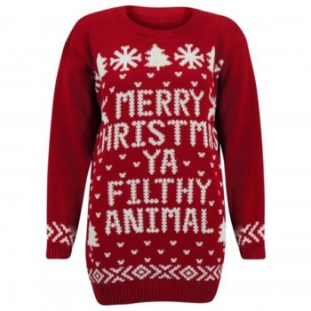 Mens Christmas Knitted Extra Thick Jumper C3005 Red