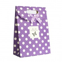 Paper Bag With Handles Wedding Birthday Christmas Gift Coloured print Dots