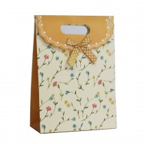 Paper Bag With Handles Wedding Birthday Christmas Gift Coloured print flower