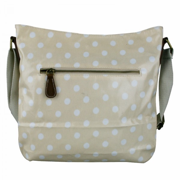L1425D - Miss Lulu Oilcloth Square Bag Polka Dot Pink