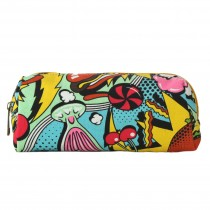 PC - Miss Lulu Canvas Pencil Case Cartoon Food Yellow