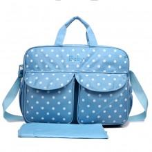 08155 - Maternity Changing Bag Polka Dot Light Blue