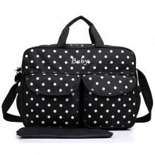 08155 - Maternity Changing Bag Polka Dot Black
