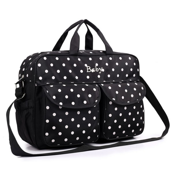 08155 - Maternity Changing Bag Polka Dot Black