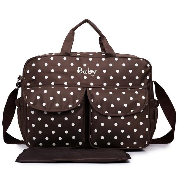08155 - Maternity Changing Bag Polka Dot Coffee
