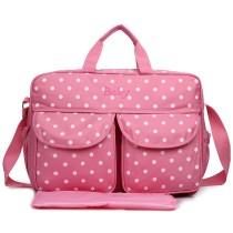 08155 - Miss Lulu lienzo mirar los bolsos de hombro del lunar rosado