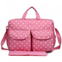 08155 - Maternity Changing Bag Polka Dot Pink