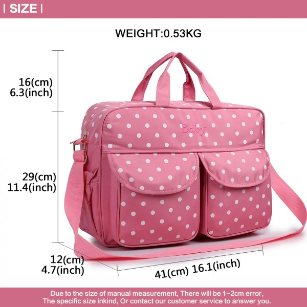 08155 - Maternity Changing Bag Polka Dot Pink