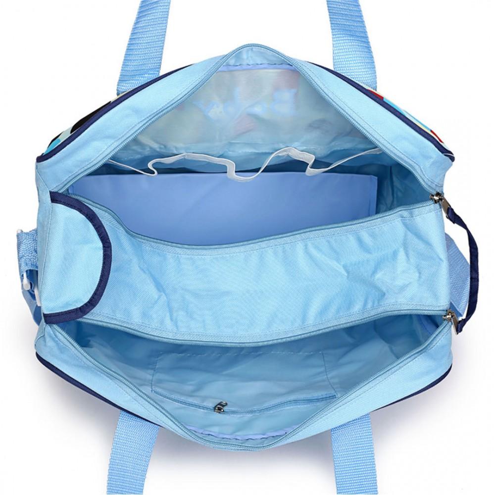 08222 baby changing bag car printed shoulder manitery handbags blue. Black Bedroom Furniture Sets. Home Design Ideas
