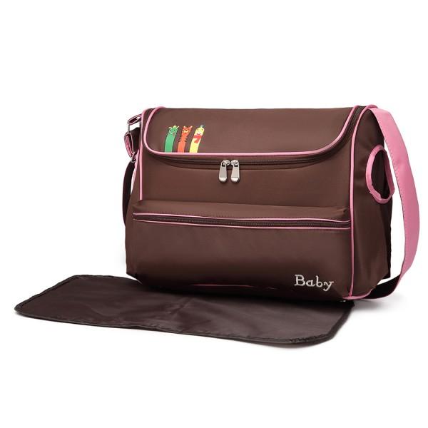 08252 - Kono Animal Character Baby Changing Bag with Changing Mat - Coffee
