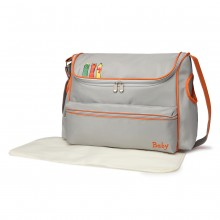 08252 - Kono Animal Character Baby Changing Bag with Changing Mat - Dark Grey