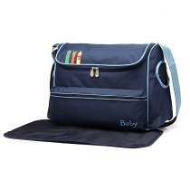 08252 - Kono Animal Character Baby Changing Bag with chanding Mat - Navy