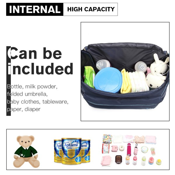 08252 - Kono Animal Character Baby Changing Bag with Changing Mat - Navy