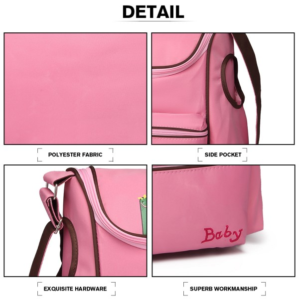 08252 - Kono Animal Character Baby Changing Bag with Changing Mat - Pink