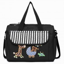 08348 - Maternity Changing Bag Animal Friends Black