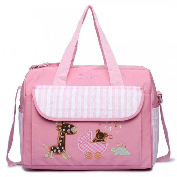 08348 - Maternity Changing Bag Animal Friends Pink