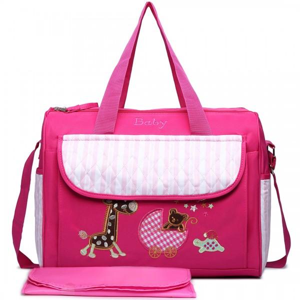 08348 - Maternity Changing Bag Animal Friends Plum