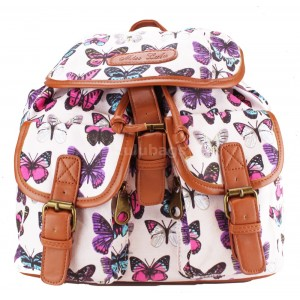 Miss LuLu L1103BC Butterfly Rucksack Pink