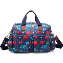 L1501NEW-E - Miss Lulu Maternity Baby Changing Bag Elephant Navy