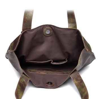 1826-MISS LULU PU LEATHER 2 PCS SET HANDBAG TOTE SHOULDER BAG CAMO