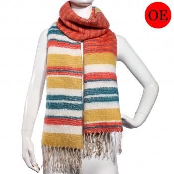 S6415-ladies new soft warm stripe shawl scarf