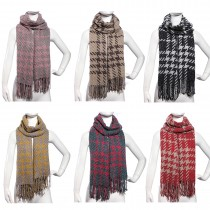 S6419-ladie stylish soft warm birds printed shawl scarf tassel wrap