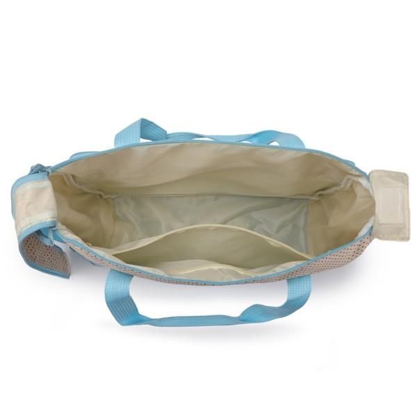 9026-MISS LULU POLYESTER 5PCS SET MATERNITY BABY CHANGING BAG DOT BLUE