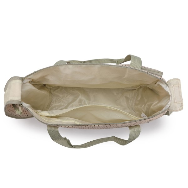 9026 - MISS LULU POLYESTER 5PCS SET MATERNITY BABY CHANGING BAG DOT - GREY