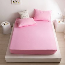100% poly coton Drap de lit double 135CM - Rose