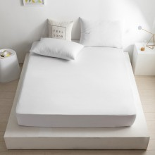 100% Poly coton Lit simple Feuille 90CM - Blanc