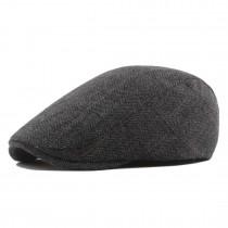 CAP-1 - Sombrero de gorra plana con diseño de espiga de chico panadero Newsboy para hombre - Gris