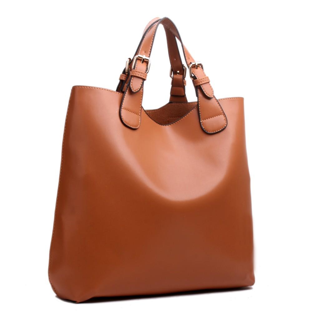 e1120 sac shopping petit prix vintage en cuir marron. Black Bedroom Furniture Sets. Home Design Ideas
