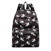E1401 UN --Miss Lulu Large Backpack Unicorn Print --Black
