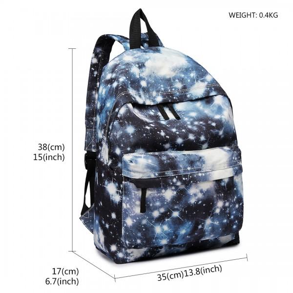 E1401U - Miss Lulu Large Backpack Universe Black