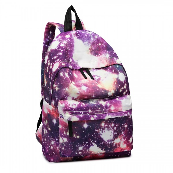 E1401U - Miss Lulu Large Backpack Universe Purple