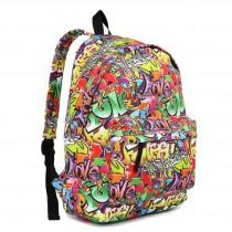 E1401G - Miss Lulu Large Backpack Graffiti