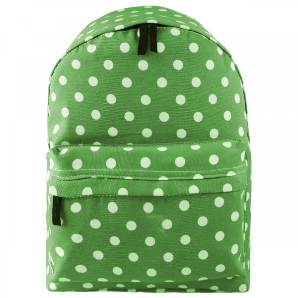 E1401D2 - Miss Lulu Large Backpack Polka Dot Green