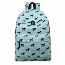 E1401H - Miss Lulu Large Backpack Horse Blue
