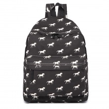E1401H - Miss Lulu Large Backpack Horse Black