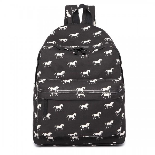 E1401H - Miss Lulu Large Backpack Horse Black