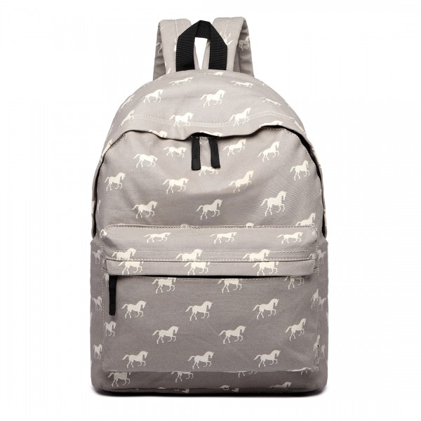 E1401H - Miss Lulu Large Backpack Horse Grey