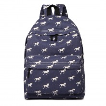 E1401H - Miss Lulu Large Backpack Horse Navy